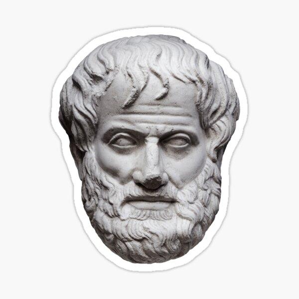 Aristóteles blanco Pegatina