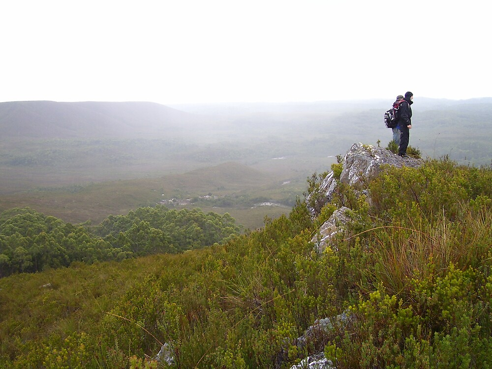 well, reached another hilltop - onwards to the next! (through the drizzle) by gaylene
