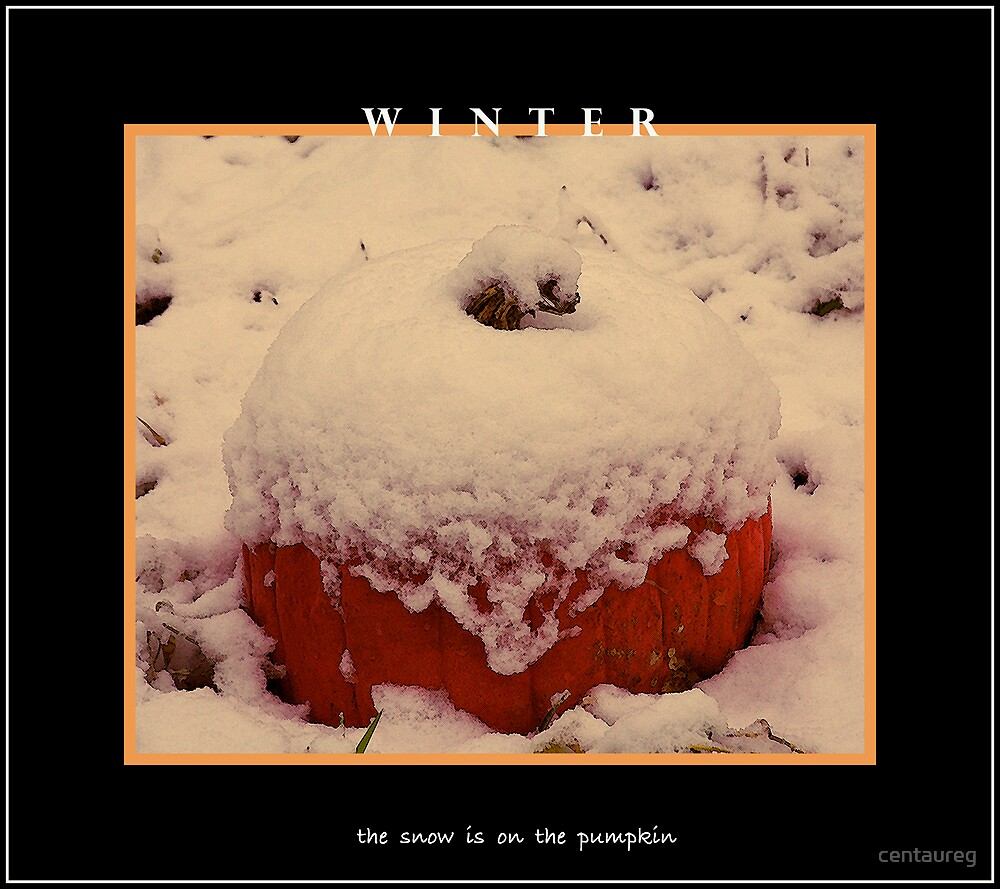 The Snow Is On The Pumpkin by Greg German