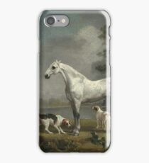 George Stubbs - A Dapple Grey Hunter With Two Foxhounds Beside A Lake iPhone Case/Skin