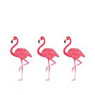 Flamingo tropical dance by peggieprints