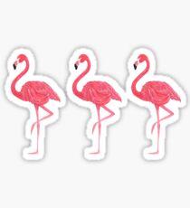 Flamingo tropical dance Sticker