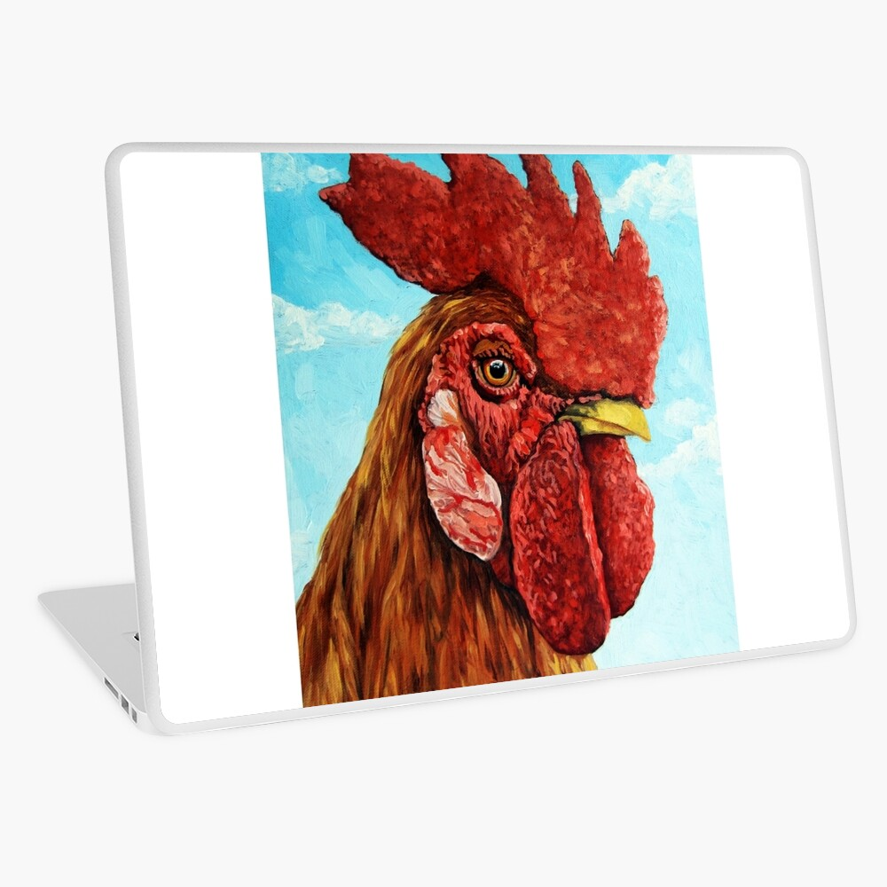 ROOSTER - realistic oil painting farm animal Laptop Skin