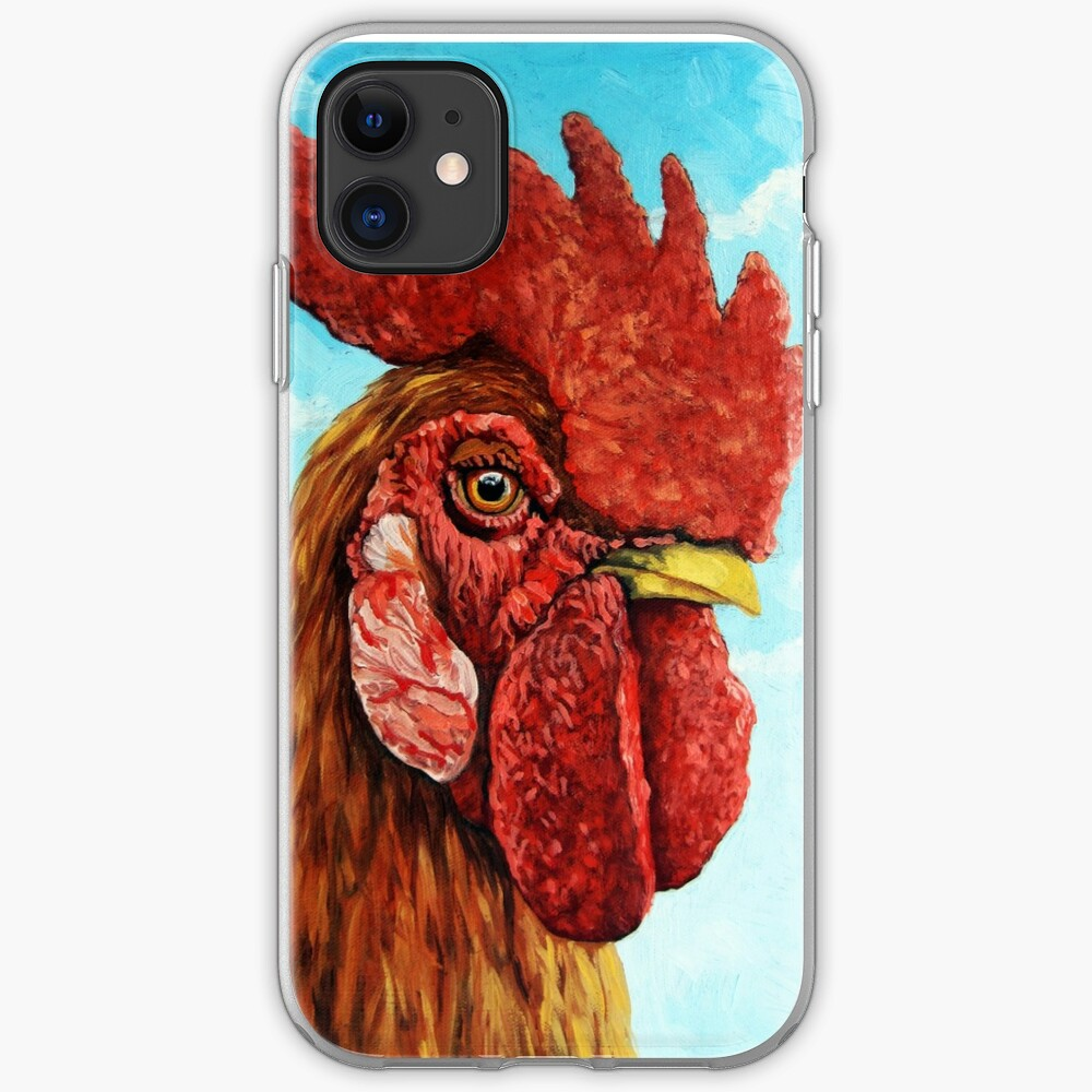 ROOSTER - realistic oil painting farm animal iPhone Case & Cover
