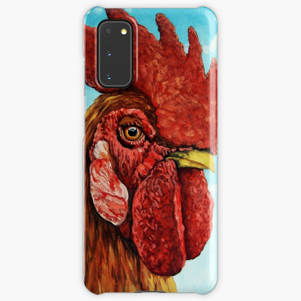 ROOSTER - realistic oil painting farm animal Case & Skin for Samsung Galaxy