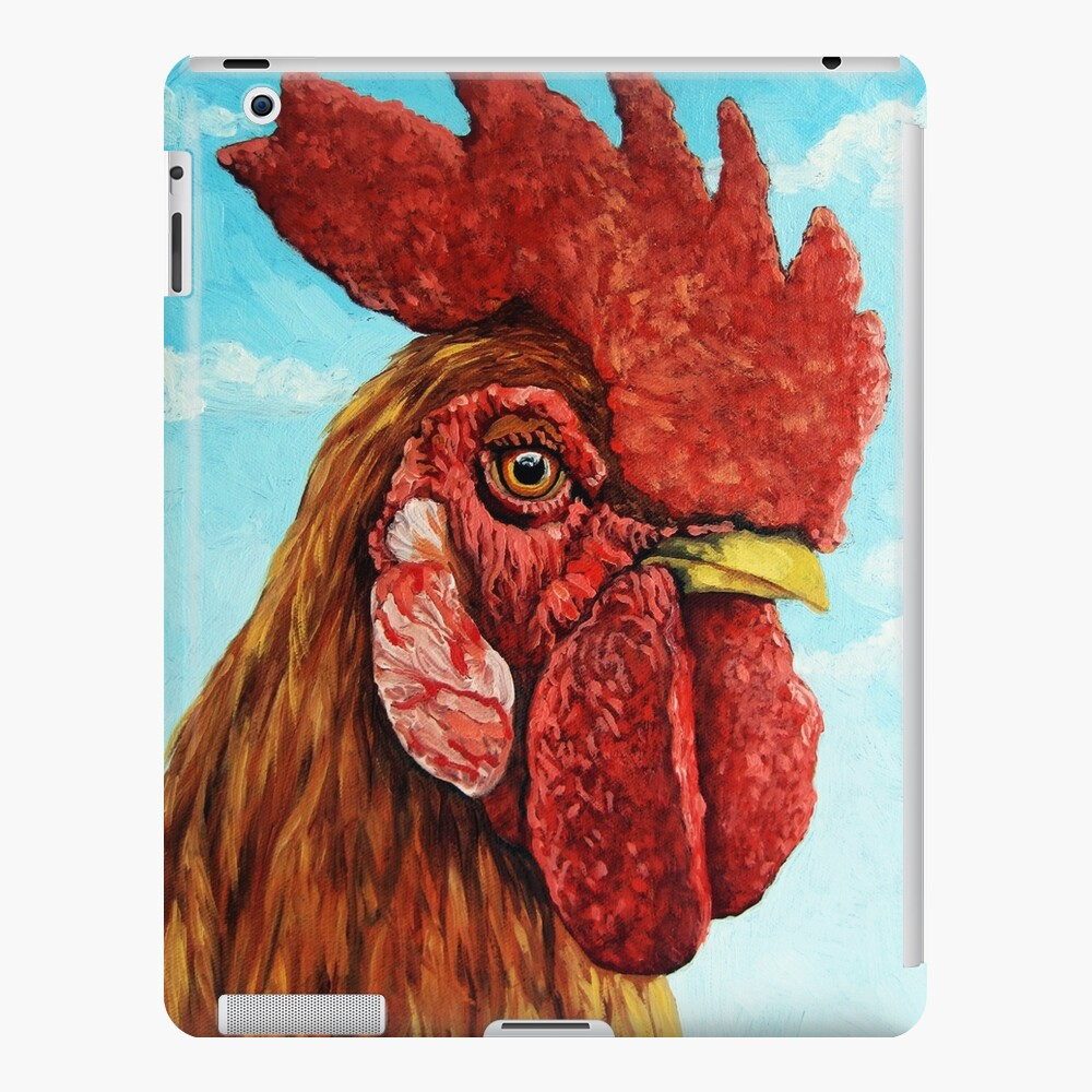ROOSTER - realistic oil painting farm animal iPad Case & Skin