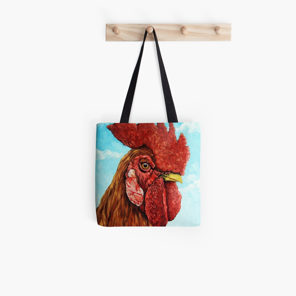 ROOSTER - realistic oil painting farm animal Tote Bag
