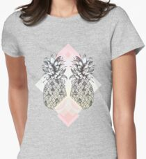 Tropical - Pink Womens Fitted T-Shirt
