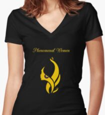 Phenomenal GOLD Women's Fitted V-Neck T-Shirt