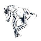 """""""Pony Frolick # 2""""  by Winterberry  Farm Studio"""