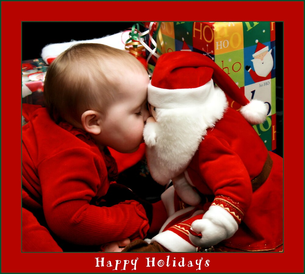 Kissing up to Santa by Stacey Milliken