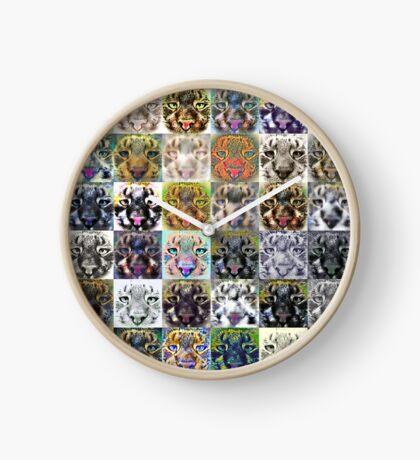 Artificial neural style wild cat Clock