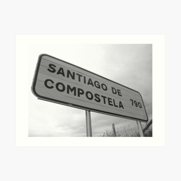 A long way to Santiago de Compostela Lámina artística