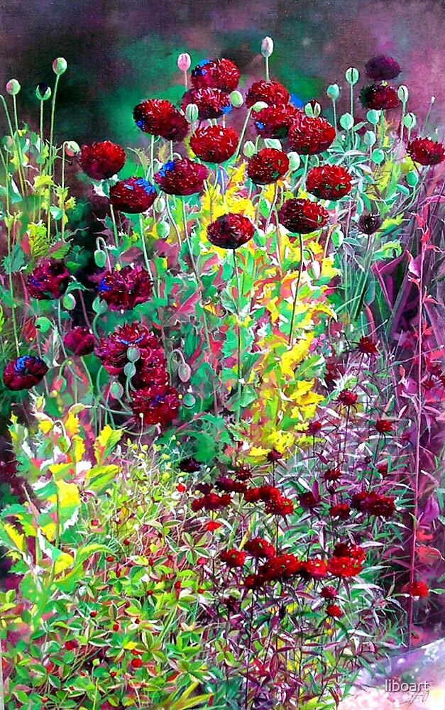 Purple poppy1 by liboart