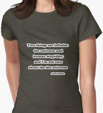 Infinite, Albert Einstein  Women's Fitted T-Shirt