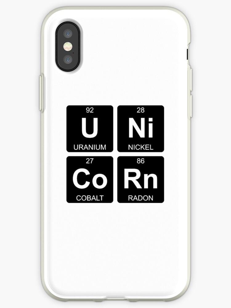 U Ni Co Rn Unicorn Periodic Table Chemistry Iphone Cases