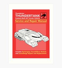Thundertank Service and Repair Manual Art Print