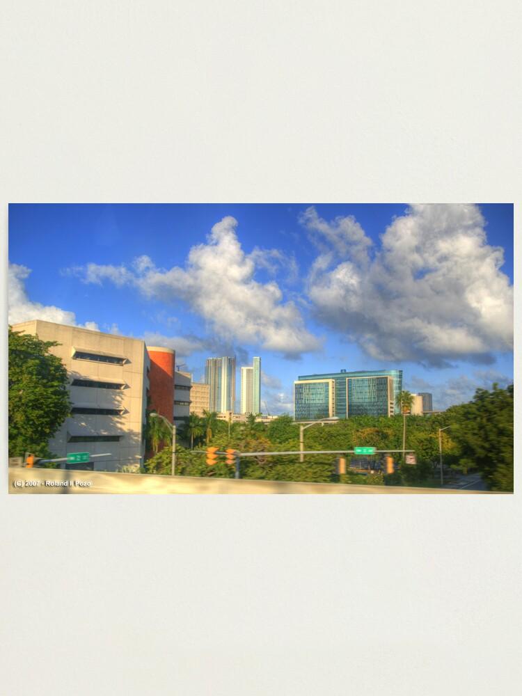 Alternate view of Downtown Miami - DSC_1553 Photographic Print