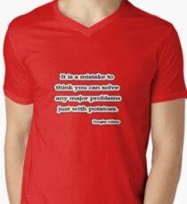 Solve problems Douglas Adams Men's V-Neck T-Shirt