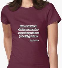Solve problems Douglas Adams Women's Fitted T-Shirt