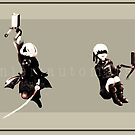 Nier Automata: 2B and 9S by alberloze