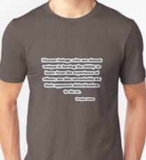 Human Beings, Douglas Adams T-Shirt