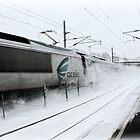 Acela Express Sprays Snow!  by Jack McCabe