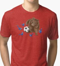 Wrens football Wombat Tri-blend T-Shirt