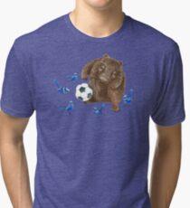 Wrens football Wombat Tri-blend T-Shirt