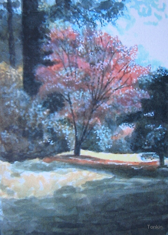 Autumn Scene, Stourhead Gardens, Wiltshire by Tonkin