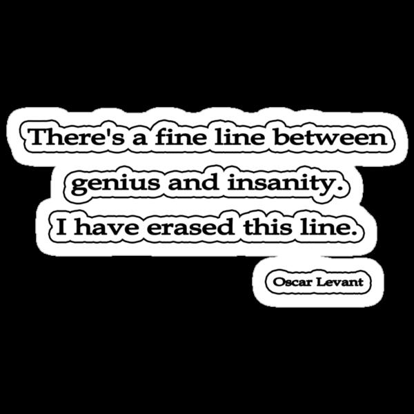 Fine line, Oscar Levant by Tammy Soulliere