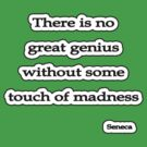 Genius w/o touch of madness, Seneca  by Tammy Soulliere