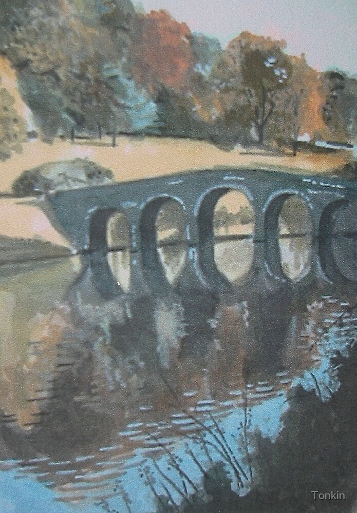 The Bridge, Stourhead Hardens, Wiltshire by Tonkin