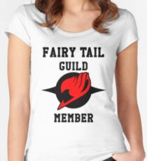 Fairy Tail Guild Member (red & black) Women's Fitted Scoop T-Shirt
