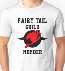 Fairy Tail Guild Member (red & black) Unisex T-Shirt