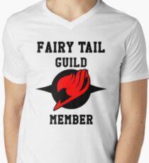 Fairy Tail Guild Member (red & black) Men's V-Neck T-Shirt