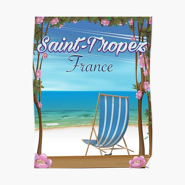 Saint-Tropez France Affiche de voyage Poster