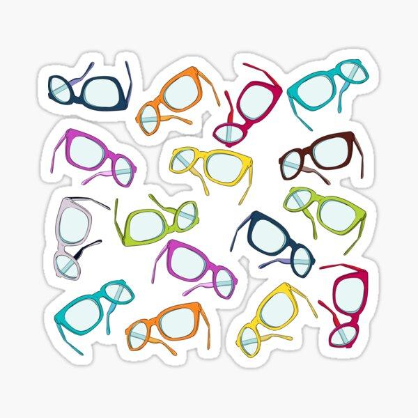Hipster Glasses Sticker