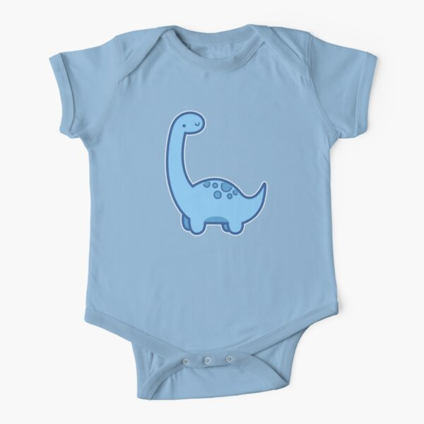 Cute Dino Short Sleeve Baby One-Piece
