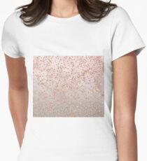 Mixed rose gold glitter gradients Women's Fitted T-Shirt