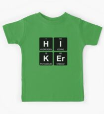 H I K Er - Hiker - Periodic Table - Chemistry - Chest Kids Tee