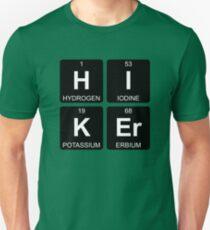 H I K Er - Hiker - Periodic Table - Chemistry - Chest T-Shirt