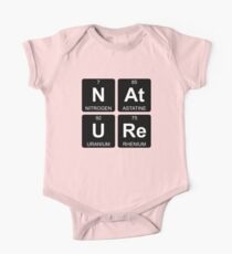N At U Re - Nature - Periodic Table - Chemistry - Chest One Piece - Short Sleeve