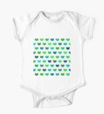 Colorful Cute Hearts One Piece - Short Sleeve