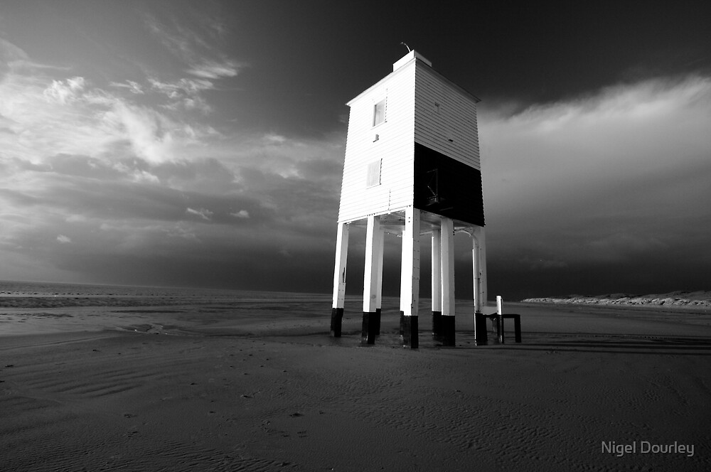 The Old Lighthouse (b+w) by Nigel Dourley