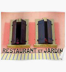 Restaurant Et Jardin Poster