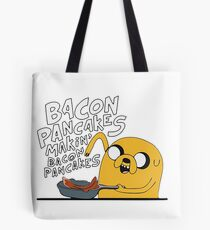 adventure time jake makin bacon pancakes Tote Bag