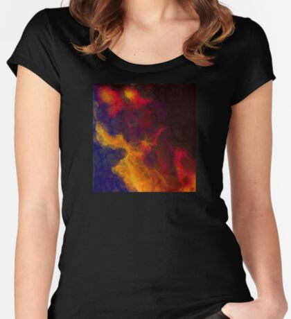 storm clouds Women's Fitted Scoop T-Shirt