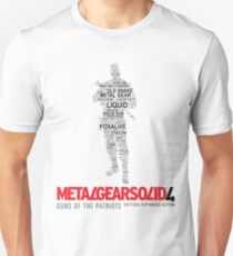 Metal Gear Solid 4: Guns of the Patriots - Old Snake - Typography  T-Shirt