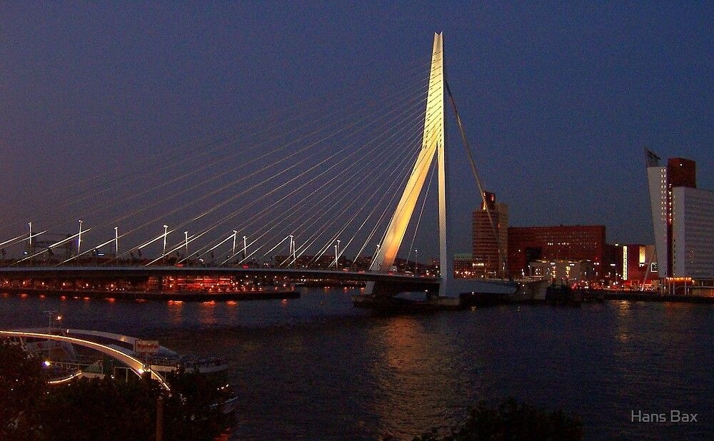 Erasmusbrug (Erasmusbridge) Rotterdam by Hans Bax